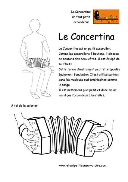 Dessin De Concertina Eveil Musical Par Le Dessin Musical