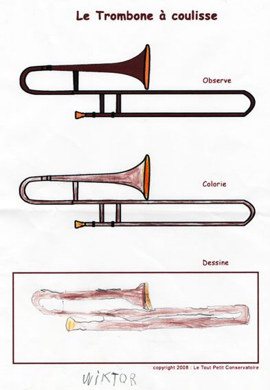 trombone coloring pages - photo#27
