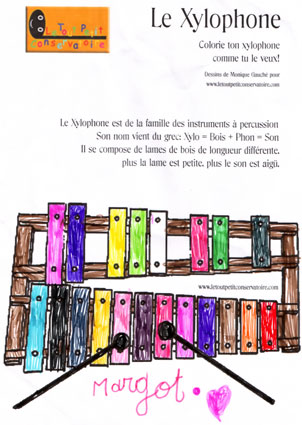coloriage xylophone