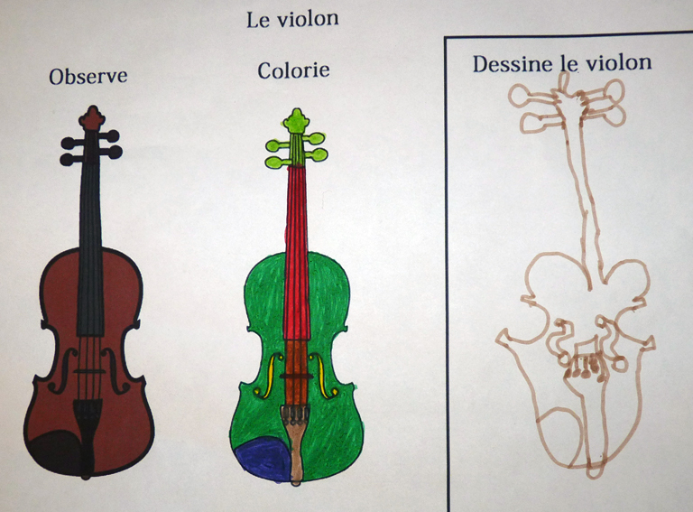 coloriage violon