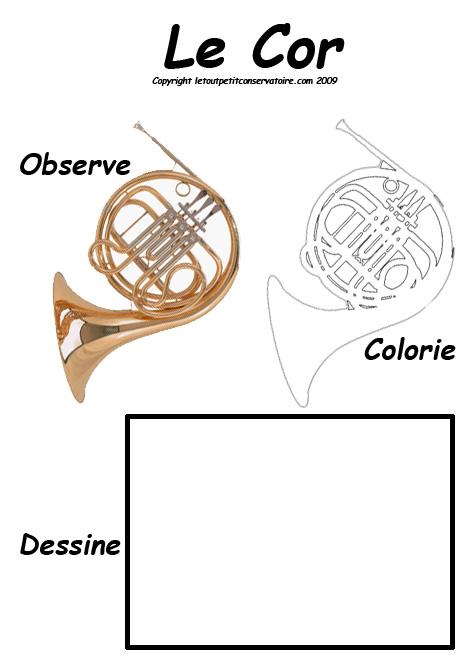 instrument de musique de cor de chasse