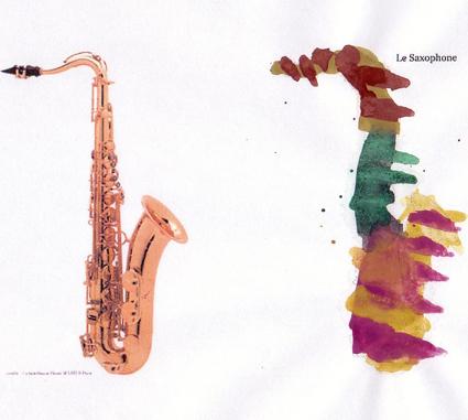 Eveil musical tout petit conservatoire dessin musique - Dessin saxophone ...