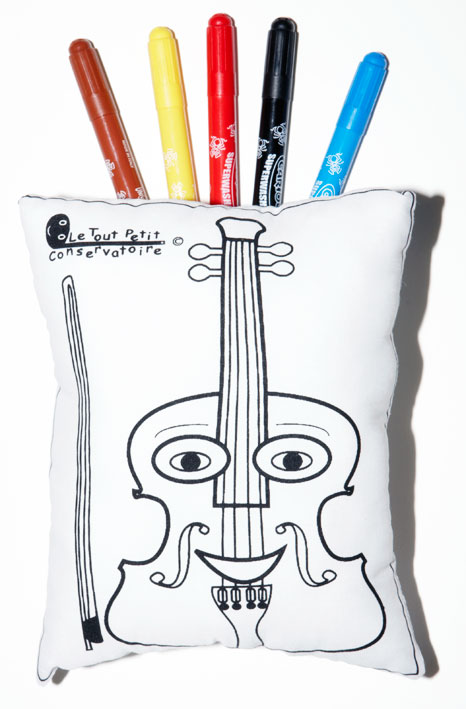 Coloriages Enfants Sur Coussin Eveil Musical Doudoumusic Du Tout Petit Conservatoire