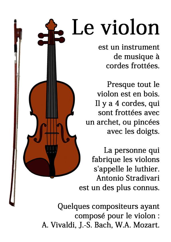 Dessin De Violon coloriage d'instrument - dessin à imprimer, coloriage violon