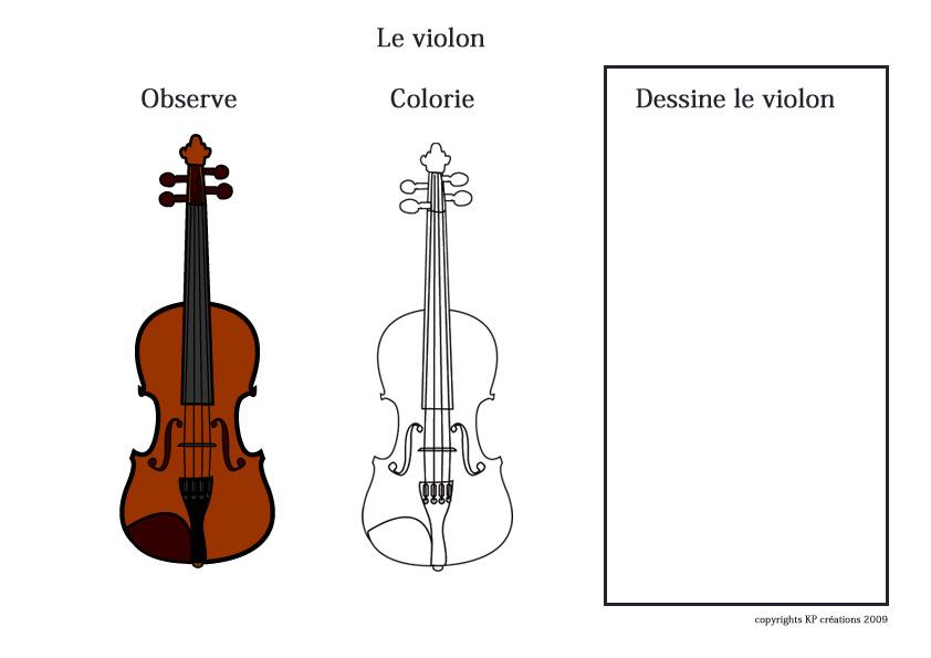 Dessin imprimer de violon coloriage musical et ludique - Dessiner un violon ...