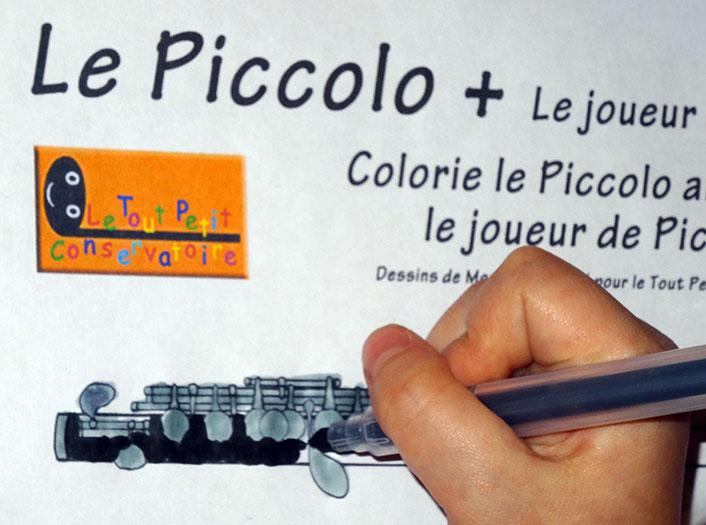 Dessin de la flute piccolo activit d 39 eveil musical pour - Dessin de flute ...