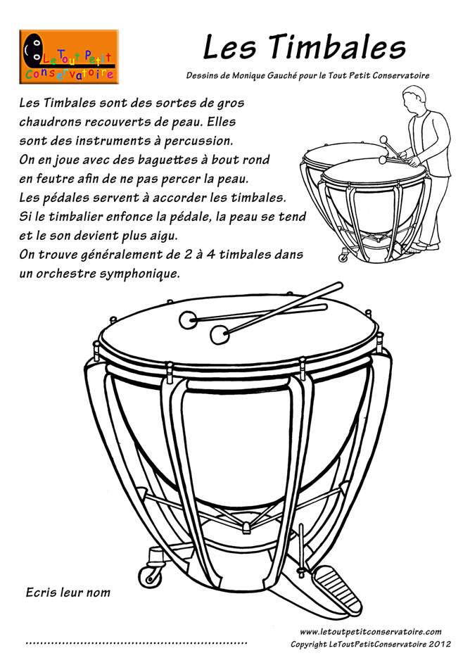 coloriage imprimer dessin de timbales eveil musical coloriage. Black Bedroom Furniture Sets. Home Design Ideas