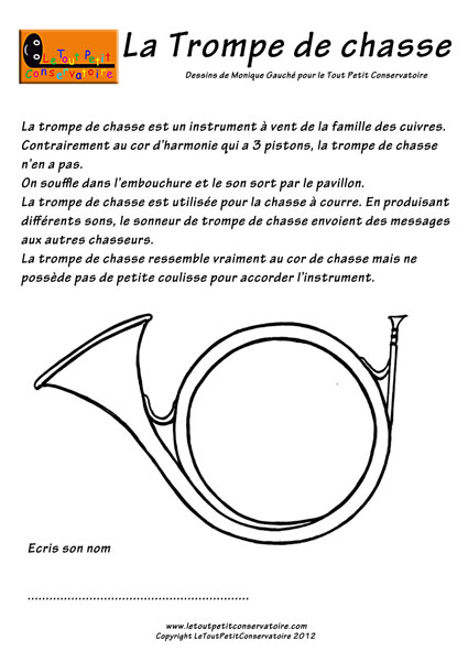 Cor d 39 harmonie eveil musical dessin musique pour enfants - Dessin de chasse ...