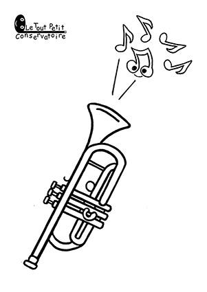 Coloriage Facile Instruments.Dessin De Trompette Coloriage Trompette Dessin Musique